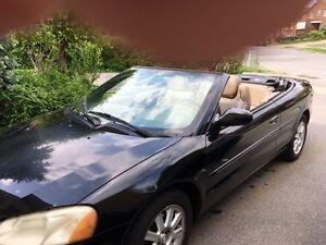 2002 Chrysler Sebring black Convertible
