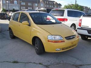 2008 Chevrolet Aveo LT Clean Carproof 1 Owner Yellow Hatch