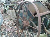 Large Cast Iron Wheel 1110mm Diameter