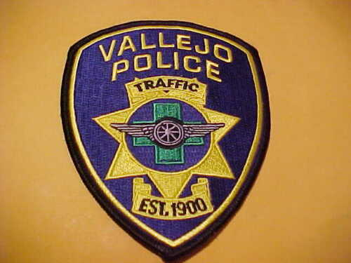 VALLEJO CALIFORNIA TRAFFIC POLICE PATCH  SHOULDER SIZE UNUSED TYPE 2