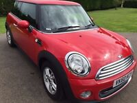 60 Plate. Rare opportunity to buy an immaculate red mini one with only 30396 miles. New Service/MOT