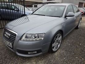 Audi A6 88736 Miles + 2.7 TDI Quattro S Line Special Ed 4dr Tip Auto + FULLY SERVICED (silver) 2010