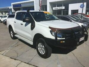 2011 Ford Ranger PX XL Double Cab White 6 Speed Manual Cab Chassis Maryborough Fraser Coast Preview