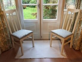 Upholstered kitchen chairs x2