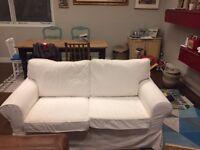 EKTORP white sofa (2 seats)