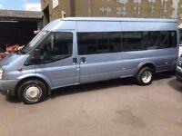 Ford Transit 17 seater minibus MOT June 2018 No Vat