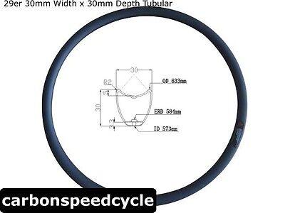 30mm wide x30m depth Tubular 29er carbon fiber mountian bicycle rim 360g ()