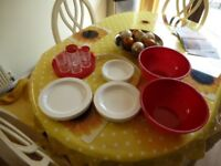 Compact Picnic container with 6 place settings.