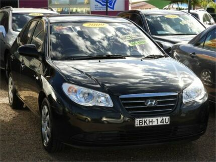 2009 Hyundai Elantra HD MY10 SLX Black 4 Speed Automatic Sedan Mount Druitt Blacktown Area Preview