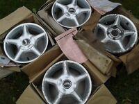 "13"" Original VW Wolfrace Alloys - 5 1/2 J X 13 "" : Sport Rader : Never used : VW Polo Mk.4/Golf Mk.3"