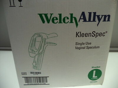 Lot Of 18 Welch Allyn Kleenspec 59004 Disposable Vaginal Speculum Large