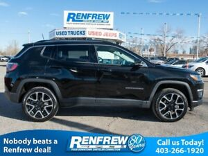 2018 Jeep Compass Limited 4x4, Panoramic Sunroof, Remote Start,