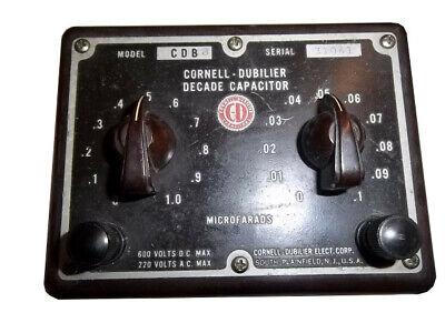 Cornell-dubilier Cdb-3 Sn 31061 660vdc220vac Max Decade Capacitor