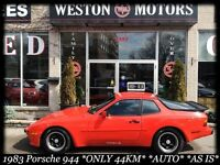 1983 PORSCHE 944 *ONLY 44KM*AUTO*LOCAL TRADE*AS IS*