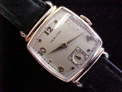 1946 Hamilton Norman Just Serviced Great Condition 19 J Cal 982 Gold Filled Case