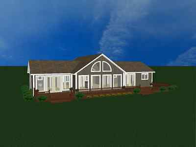 Chalet Old folks' House Kit Prefab house 3 Bedrooms 2 Bath Vacation home Guest Concern