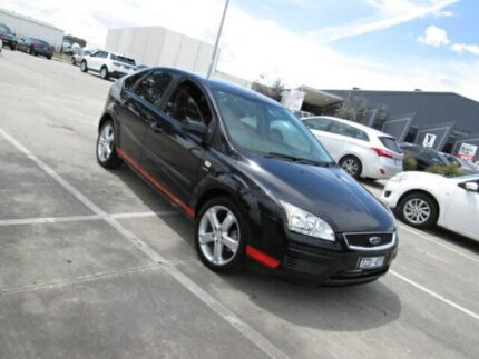 2006 Ford Focus LS LX Black & Red 4 Speed Automatic Hatchback Epping Whittlesea Area Preview