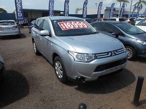 2013 Mitsubishi Outlander ZJ MY13 ES 4WD Silver 6 Speed Constant Variable Wagon Winnellie Darwin City Preview