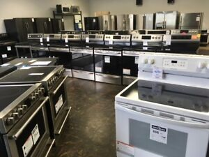 GAS, GLASSTOP, INDUCTION RANGES IN ALL FINISHES! NEW AND USED!