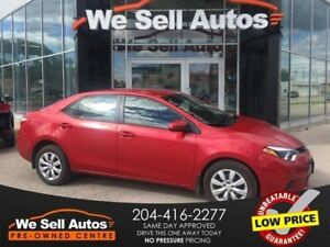 2016 Toyota Corolla LE *A/C, BLUETOOTH, HTD SEATS, REAR VIEW CAM