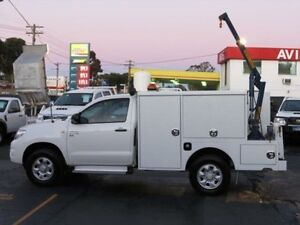 2010 Toyota Hilux KUN26R MY11 Upgrade SR (4x4) White 4 Speed Automatic Cab Chassis Condell Park Bankstown Area Preview