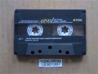 £4 & FREE P&P, GUARANTEED TDK AR 90 PREMIUM CASSETTE TAPES 1990-1991 W/ CARDS CASES LABELS