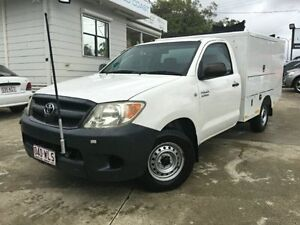 2005 Toyota Hilux TGN16R MY05 Workmate White Manual Cab Chassis Surfers Paradise Gold Coast City Preview