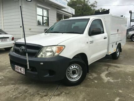 2005 Toyota Hilux TGN16R MY05 WORKMATE SINGLE CAB White Manual Cab Chassis