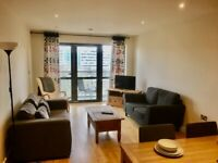 fully furnished modern 2 bed apt with city views L3 2DB balcony parking 24hr manned sec