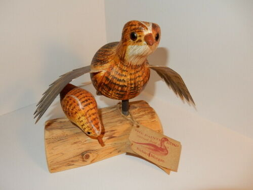 Richard Morgan, The Painted Bird carved bird, Bobwhite Quail