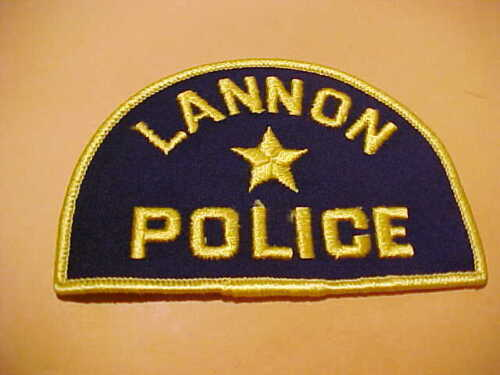 LANNON WISCONSIN POLICE PATCH SHOULDER SIZE UNUSED