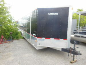 Timber Wolf Enclosed Tri-Axle 2 Car Hauler Trailer