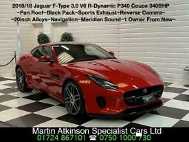 image for 2018 18 Jaguar F-Type 3.0 V6 S/C R-Dynamic P340 Coupe Supercharged Coupe