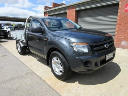 2012 Ford Ranger PX XL 2.2 (4x2) Grey Mica 6 Speed Manual Cab Chassis