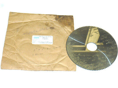 Nos Sgs Solid Carbide Slitting Saw Blade 5 X .125 X 1 100t Jewelers