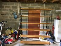 Free Standing Steel framed Oak shelves - moved to garage for convenience