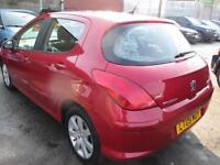 PEUGEOT 308 1.6 HDi 90 Sport 5dr (red) 2009