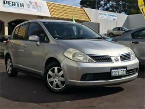 2008 Nissan Tiida C11 MY07 ST Silver 4 Speed Automatic Hatchback East Victoria Park Victoria Park Area Preview