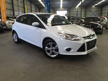 2013 Ford Focus LW MKII Trend PwrShift White 6 Speed Sports Automatic Dual Clutch Hatchback Murarrie Brisbane South East Preview