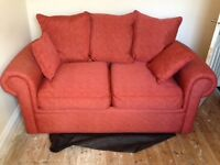 Terracotta 2 seater sofa bed