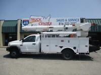 2009 Dodge Ram 5500 4X4 42' Reach Bucket Truck - Mat. Handler