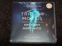 Brand new: 'Trigger Mortis' MP3 Audio Book on 2 CDs (unabridged) by Anthony Horowitz (RRP £25)