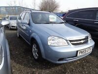 2009 59 reg Chevrolet lacetti sx 1.6 estate mot for 1 year ex we car must be cheap £1095