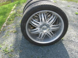 """SET OF 4 20"""" RIMS AND LOW PROFILE TIRES"""