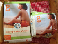 disposable inserts for washable nappies gRefills from gNappies - size M-XL