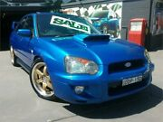2003 Subaru Impreza MY03 WRX (AWD) Blue 5 Speed Manual Sedan Greenacre Bankstown Area Preview