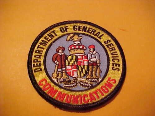 MARYLAND DEPT OF GENERAL SERVICE COMMUNICATION POLICE PATCH SHOULDER SIZE UNUSED