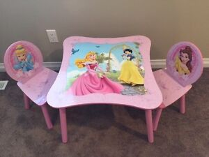 Disney Table and 2 Chairs