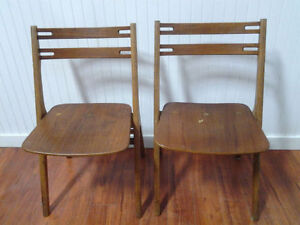 2 Chaises Teck/Teak MADE IN DENMARK 2 Beautiful Wooden Chairs