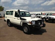 2011 Toyota Landcruiser VDJ78R 09 Upgrade Workmate (4x4) 11 Seat White 5 Speed Manual TroopCarrier Berrimah Darwin City Preview